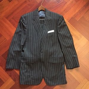 Suits & Blazers - Custom Made Italian fabric pinstripe suit.